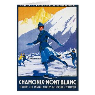 Vintage Chamonix - Mont Blanc Poster Greeting Card