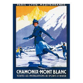 Vintage Chamonix - Mont Blanc Poster Postcard