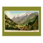 Vintage Chamonix Railroad viaduct Mont Blanc range Postcards