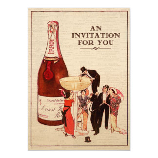 Vintage Champagne Cocktail Party Formal Fun Custom Card