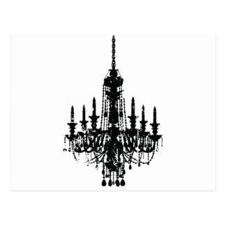 vintage chandelier design post cards