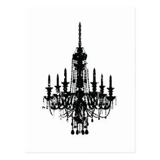vintage chandelier design post card