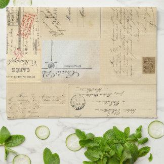 Vintage Chandelier French Postcard Towel