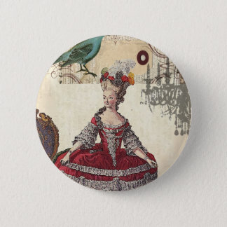 Vintage Chandelier french queen  Marie Antoinette 6 Cm Round Badge