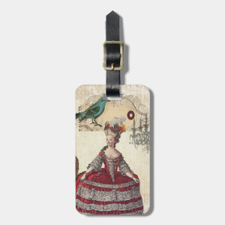 Vintage Chandelier french queen  Marie Antoinette Luggage Tag