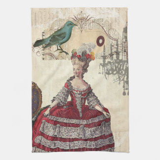 Vintage Chandelier french queen  Marie Antoinette Tea Towel