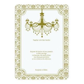 Vintage Chandelier Wedding Card