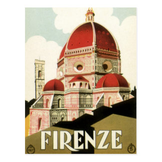 Vintage Change of Address Florence Italy Cathedral Postcard