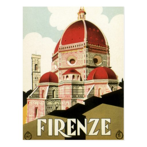 Vintage Change of Address Florence Italy Cathedral Post Cards