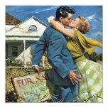 Vintage Change of Address, Love and Romance Custom Invitations
