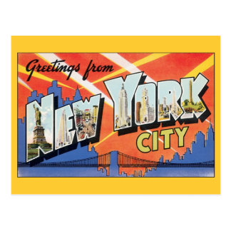 Vintage Change of Address, New York City NYC Postcard