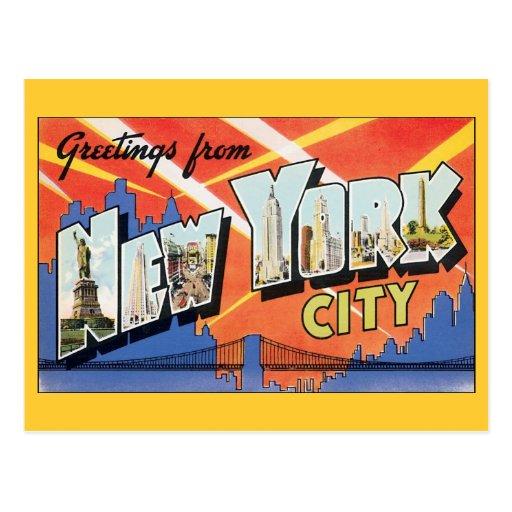 Vintage Change of Address, New York City NYC Postcard