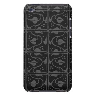 Vintage Charcoal Gray Black Leaf Vines iPod Case-Mate Cases