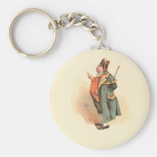 Vintage Charles Dickens Oliver Twist Mr. Bumble Basic Round Button Key Ring