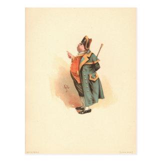 Vintage Charles Dickens Oliver Twist Mr. Bumble Postcard
