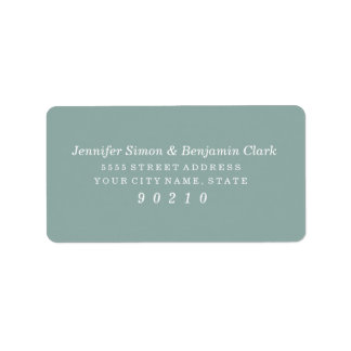 Vintage Charm Address Labels - Blue Steel