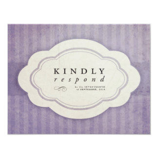 Vintage Charm Lilac Response Cards