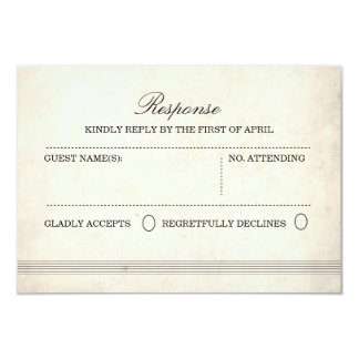 Vintage Charm Wedding Response Card 9 Cm X 13 Cm Invitation Card