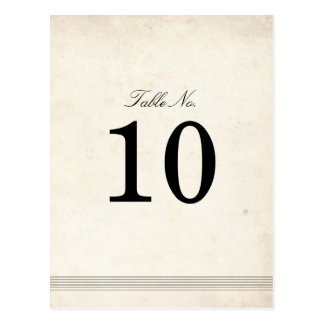 Vintage Charm Wedding Table Number Postcard