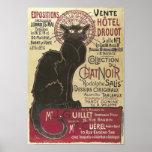 Vintage Chat Noir, Vente Hôtel Drouot Steinlen