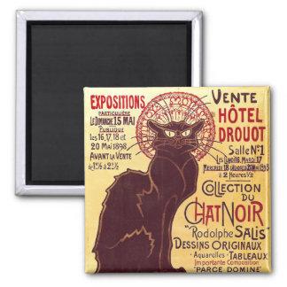 Vintage Chat Noir Vente Hôtel Drouot Steinlen Refrigerator Magnet