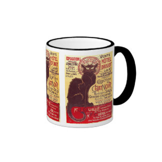 Vintage Chat Noir, Vente Hôtel Drouot Steinlen Coffee Mug