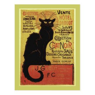 Vintage Chat Noir, Vente Hôtel Drouot Steinlen Postcard