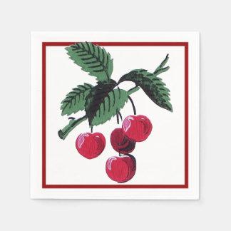 Vintage Cherries Paper Napkin