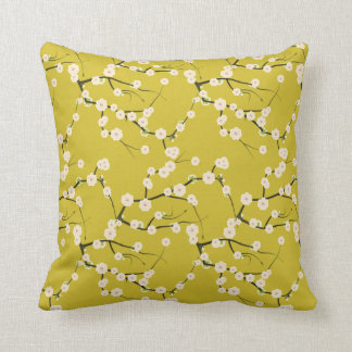 vintage cherry blossom cushion pillow