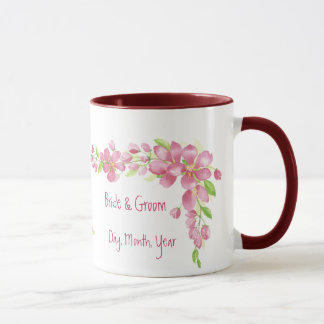 Vintage Cherry Blossom Save the Date Wedding Mug