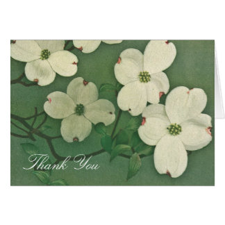 Vintage Cherry Blossom Thank You Card