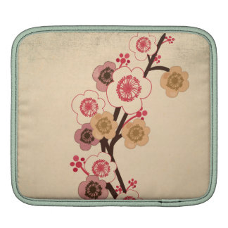 Vintage cherry blossom tree Rickshaw Sleeve Sleeves For iPads