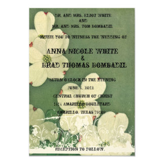 "Vintage Cherry Blossom Wedding Invitation 5"" X 7"" Invitation Card"