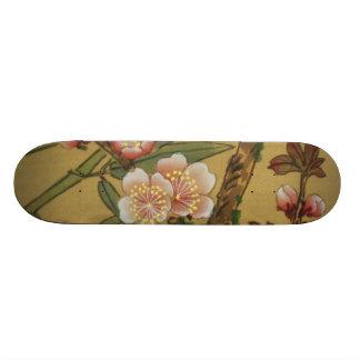 Vintage Cherry Blossoms Antique Asian Art 21.6 Cm Skateboard Deck