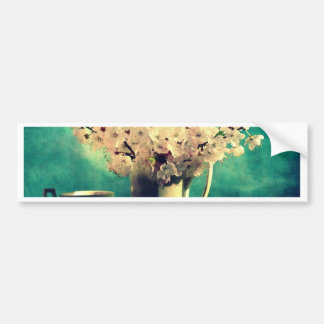 Vintage Cherry Blossoms Bumper Sticker