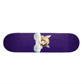 Vintage cherub angel on a cloud skate decks