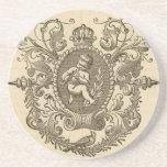 Vintage Cherub Matte Sandstone Drink Coaster