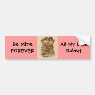 vintage cherub valentine bumper sticker