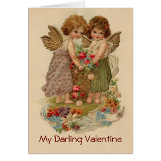 vintage cherub valentine greeting card