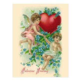 Vintage Cherubs Valentine Postcard