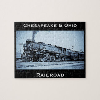 Vintage Chesapeake & Ohio  Railroad Train Engine Jigsaw Puzzle