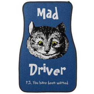 Vintage Cheshire Cat Art Car Mat Set