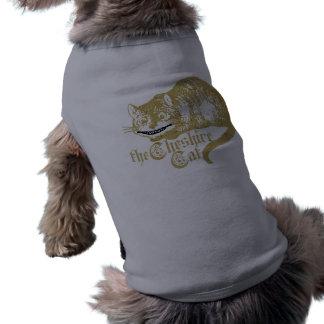 Vintage Cheshire Cat Illustration Sleeveless Dog Shirt