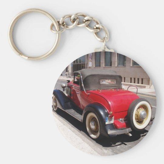 Vintage Chevrolet Basic Round Button Key Ring