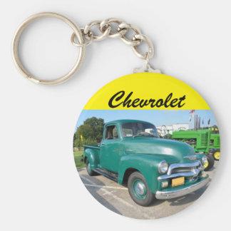Vintage Chevrolet Truck Basic Round Button Key Ring