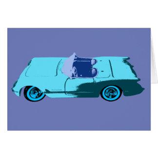 Vintage Chevy Corvette in Blues Card