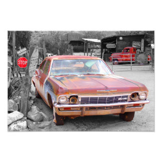 Vintage Chevy Impala Wreck Photo
