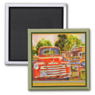 Vintage Chevy Square Magnet