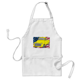 Vintage Chevy Truck with American Flag Standard Apron