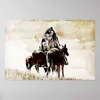 Vintage Cheyenne Warriors Canvas Print